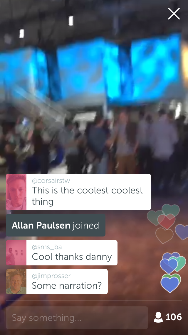 Periscope is the Coolest thing at the Conference