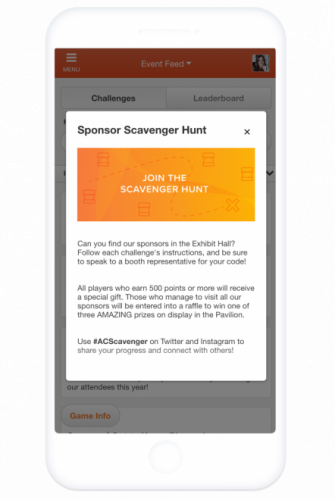 Event Gamification Scavenger Hunt