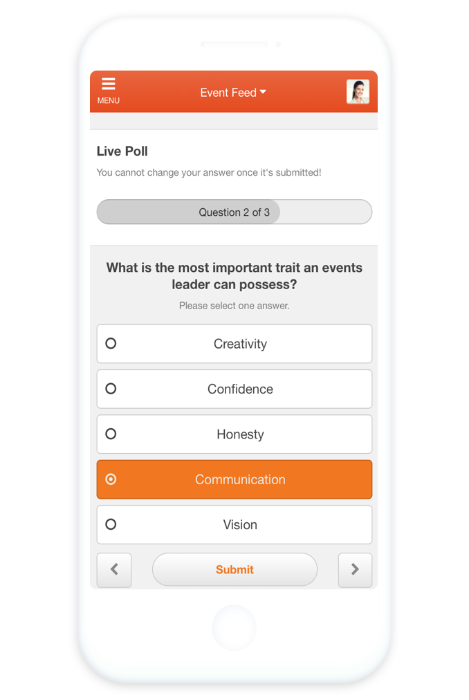 Live-Umfragen Feedback in Event-Apps EventMobi