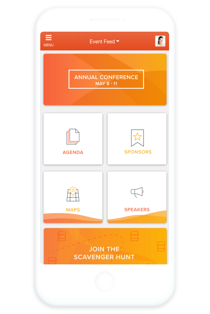 Multi-Event-Management App Homescreen EventMobi