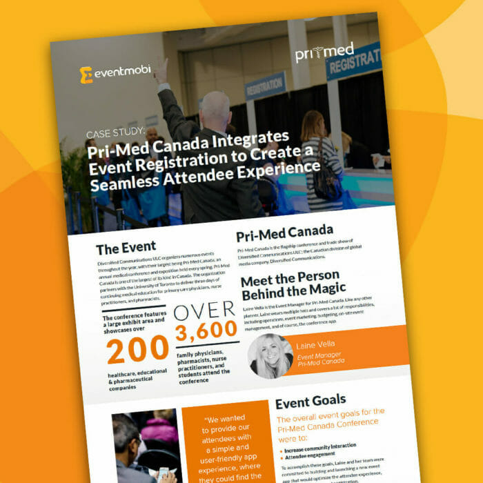 How Pri-Med Canada Used Event Registration and an Event App to Create the Ultimate Event Experience