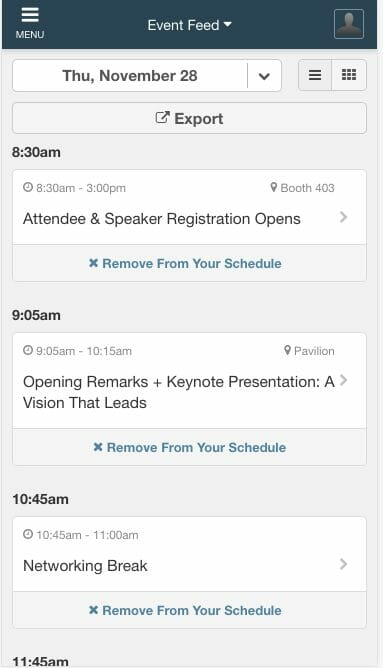 sessions library in eventmobi event app