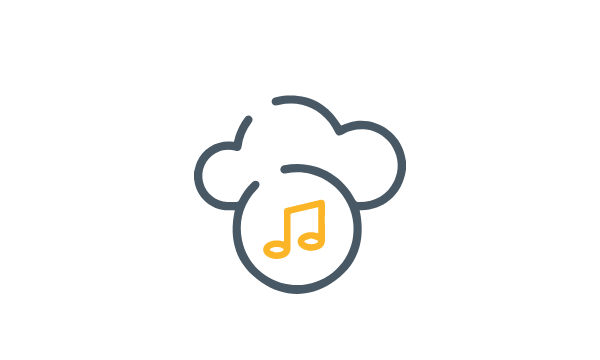 Icon - Set the mood with background music at your virtual event